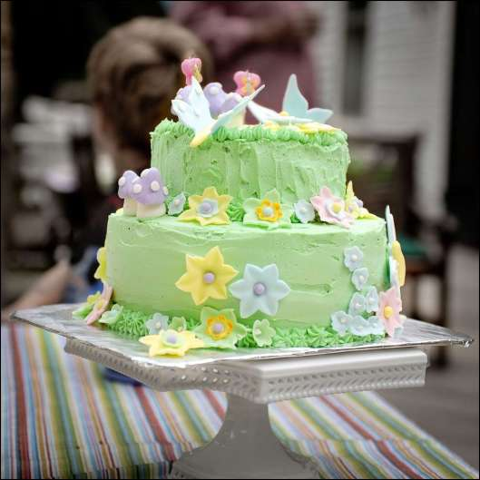 Butterfly Flower Garden Cake