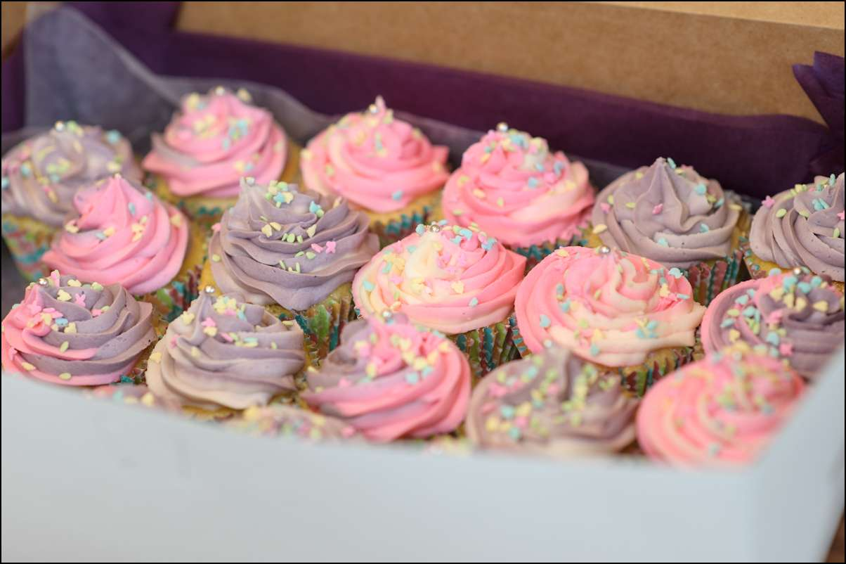 Cupcake Ideas For Birthday Girl : Spring Birthday Party Cupcakes Gray Barn Baking