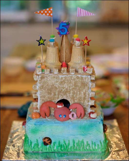 Beach Party Sandcastle Cake