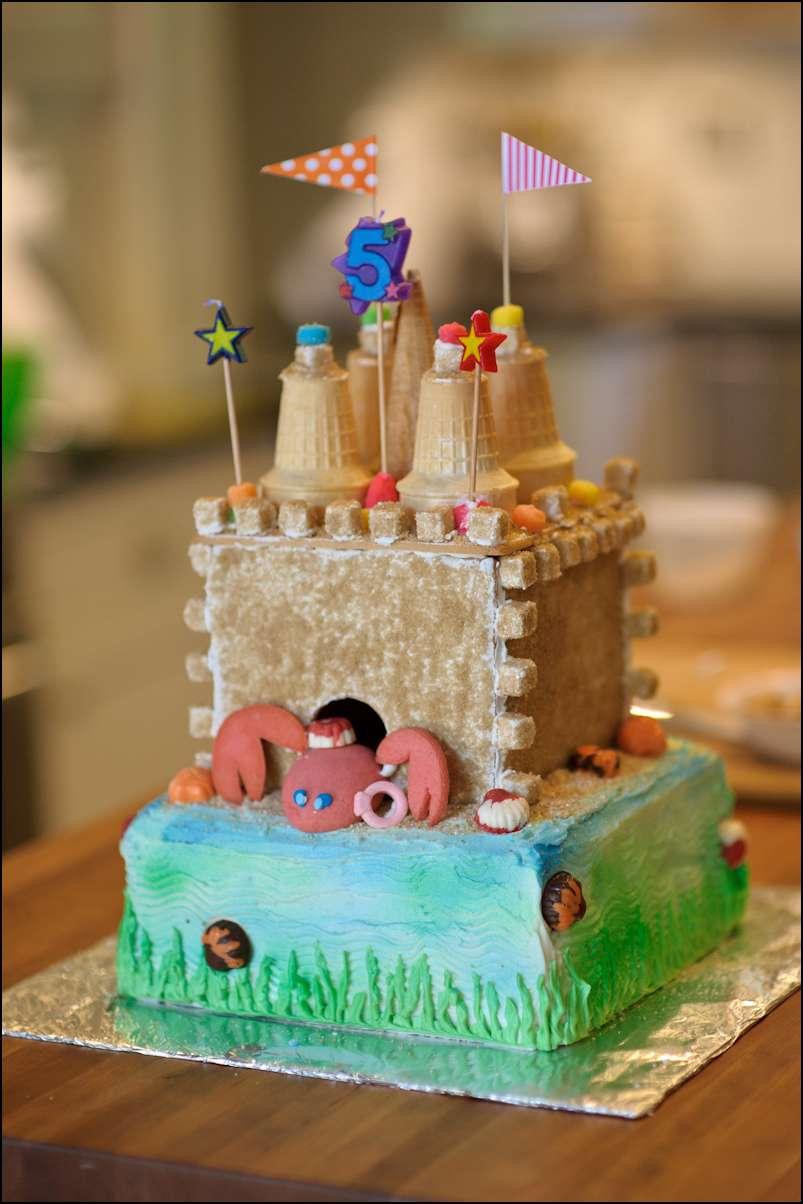 Beach Party Sand Castle Cake Gray Barn Baking