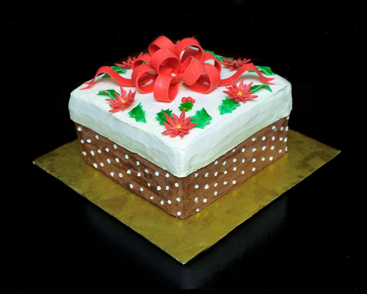 Christmas gift box cake gray barn baking christmas box cake negle Image collections