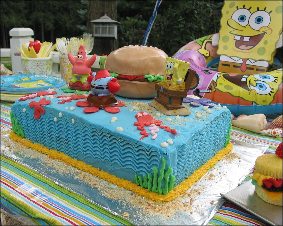 Sponge Birthday Cake With Candles