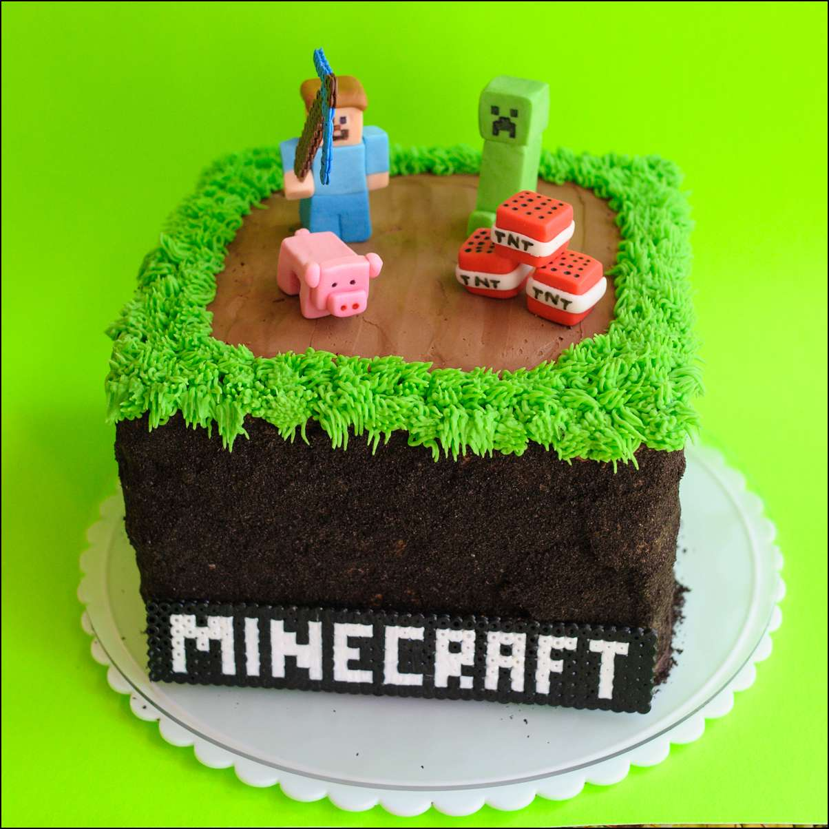 Minecraft Cake 20 Gray Barn Baking