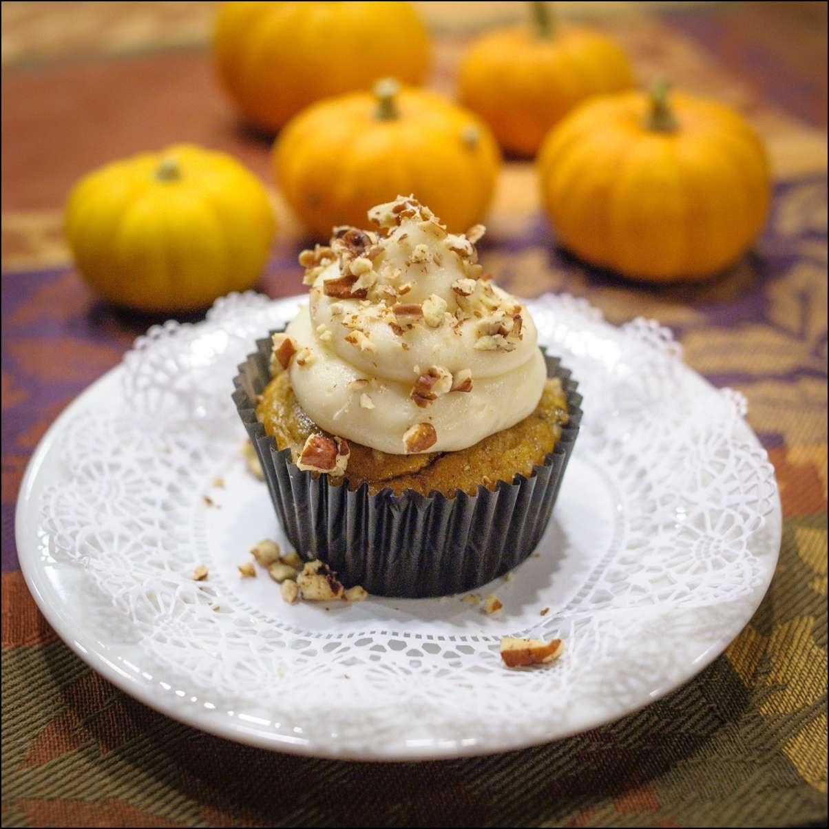 Pumpkin Spice Cupcakes Recipe — Dishmaps