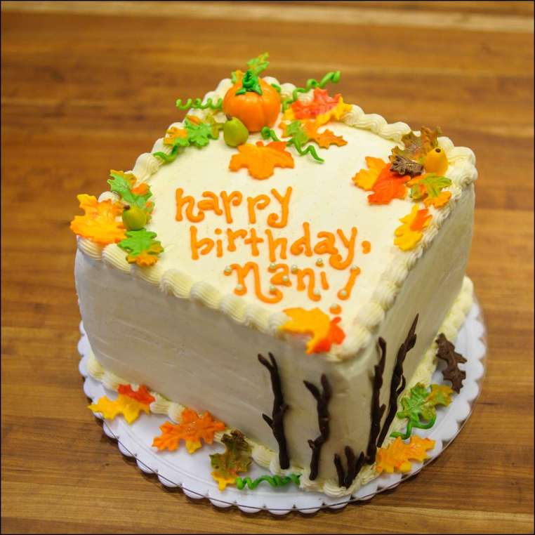 Phenomenal Fall Birthday Cake 1 Gray Barn Baking Funny Birthday Cards Online Elaedamsfinfo