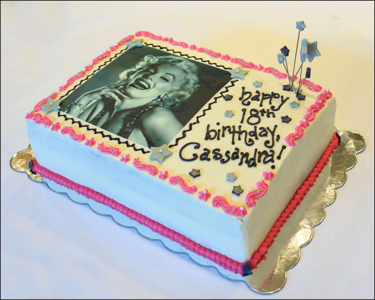 Sensational Marilyn Monroe Edible Image Cake Gray Barn Baking Personalised Birthday Cards Paralily Jamesorg