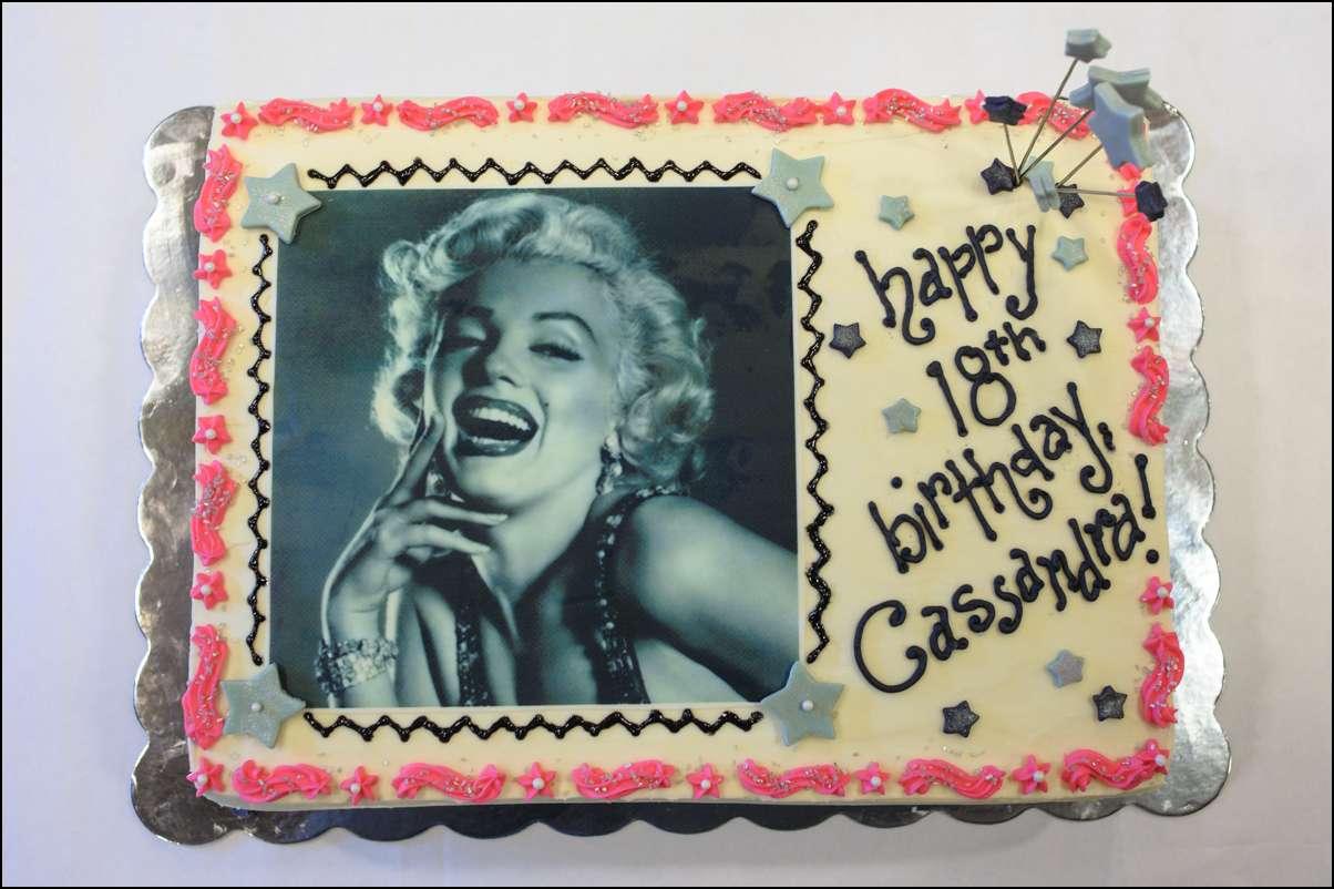 Marilyn Monroe Cake 2 Gray Barn Baking