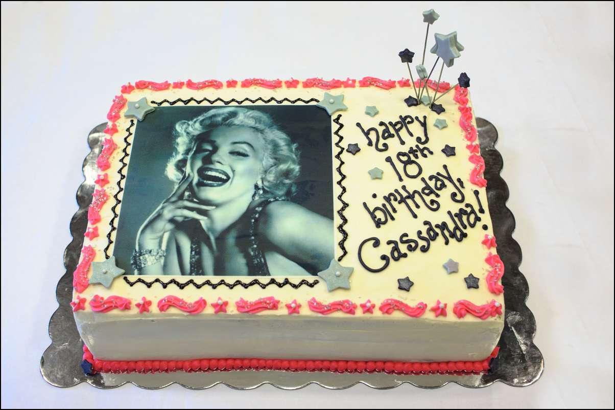 Incredible Marilyn Monroe Edible Image Cake Gray Barn Baking Personalised Birthday Cards Paralily Jamesorg