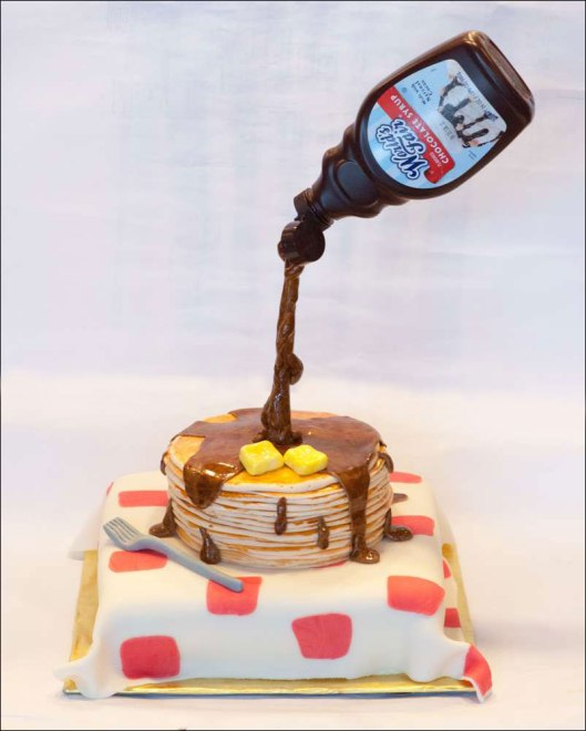 "Gravity-Defying ""Stack of Pancakes"" Cake"