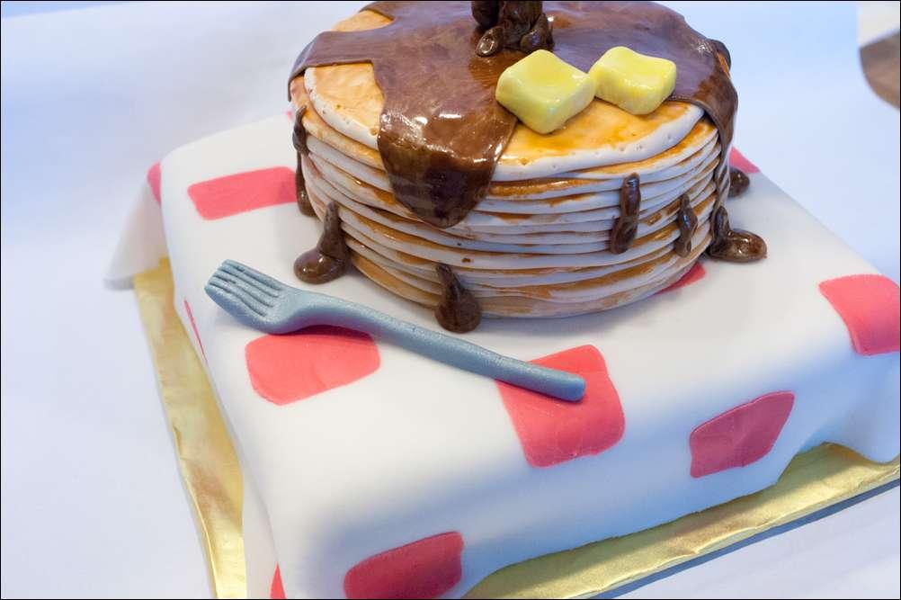 GravityDefying Stack of Pancakes Cake Gray Barn Baking