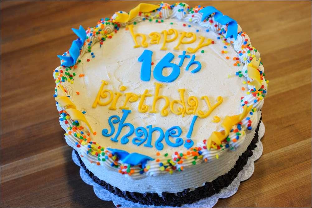 Blue Yellow Birthday Cake 2 Gray Barn Baking