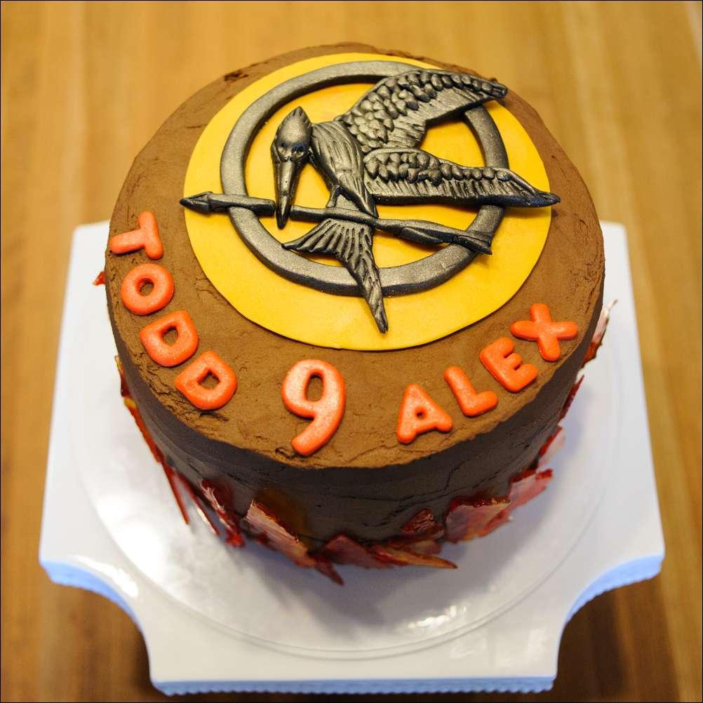 Sensational Hunger Games Cake 1 Gray Barn Baking Funny Birthday Cards Online Elaedamsfinfo