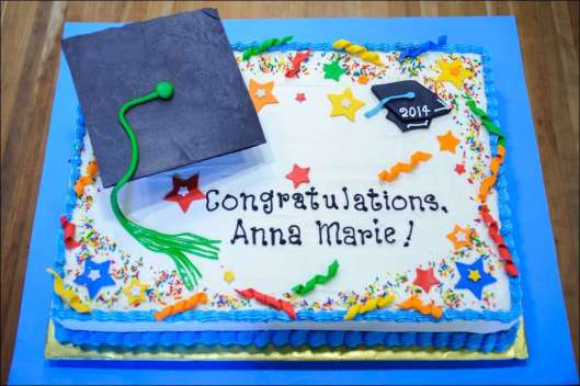 Graduation Cake with Mortar Board