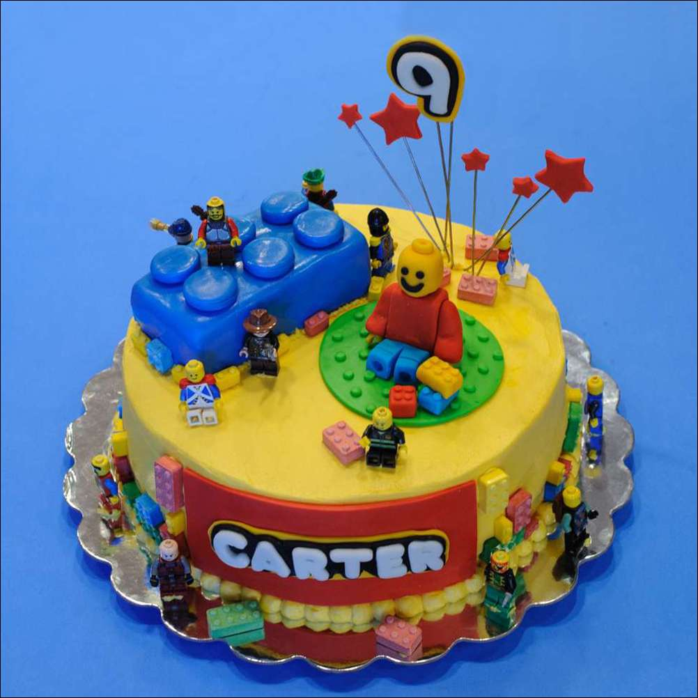 Astounding Lego Birthday Cake Gray Barn Baking Funny Birthday Cards Online Sheoxdamsfinfo