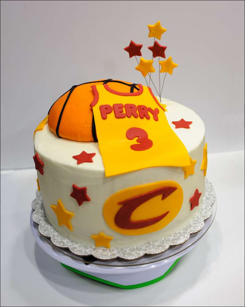 Excellent Cavaliers Basketball Birthday Cake Gray Barn Baking Funny Birthday Cards Online Unhofree Goldxyz
