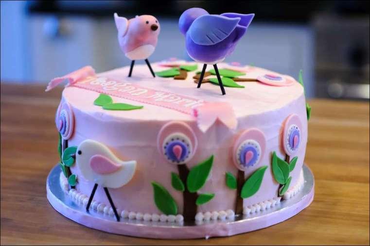 Terrific Bird Birthday Cake 25 Gray Barn Baking Personalised Birthday Cards Cominlily Jamesorg