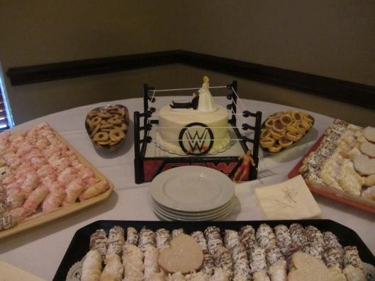 WWE grooms cake