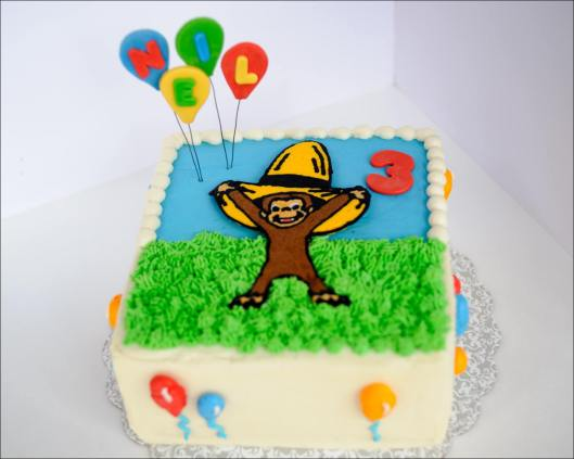 Pleasant Curious George Birthday Cake Gray Barn Baking Personalised Birthday Cards Beptaeletsinfo