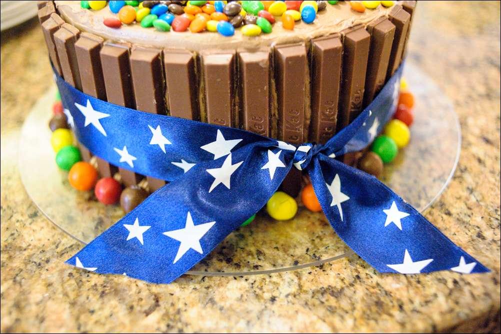 Kit Kat And Mm Birthday Cake Gray Barn Baking