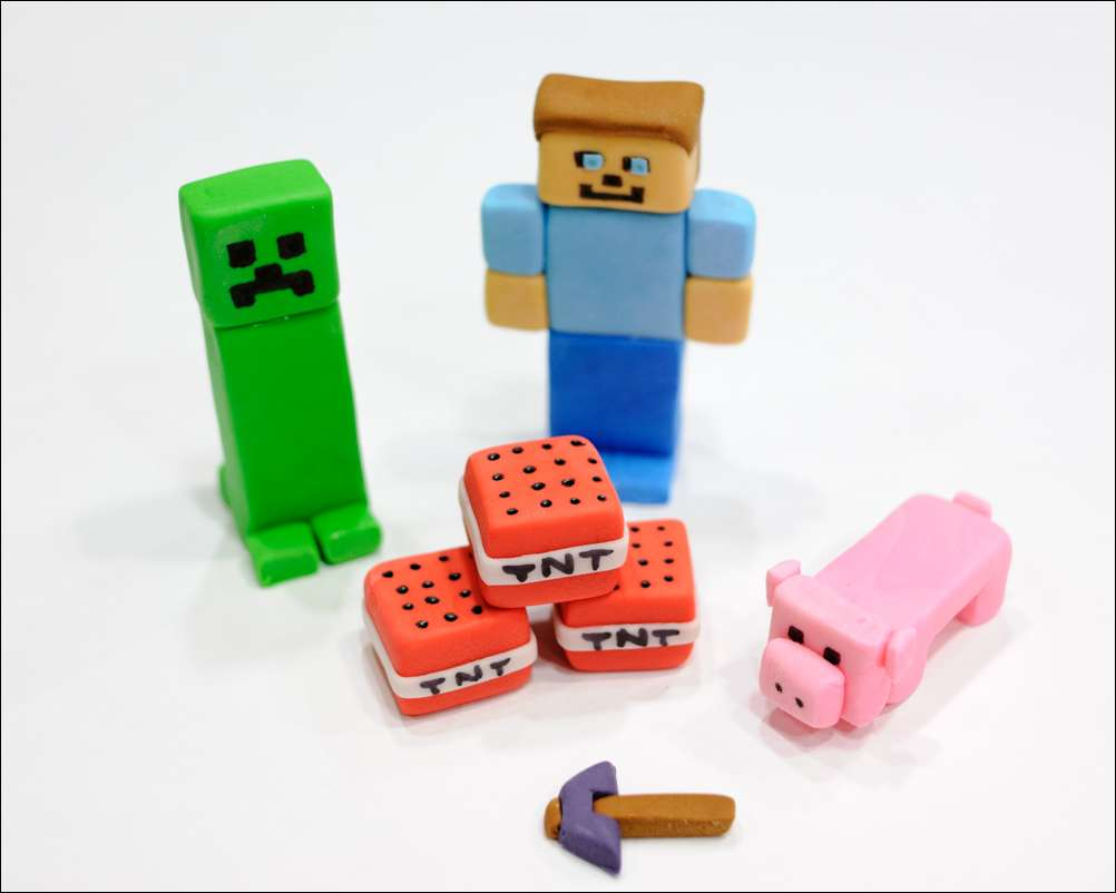 Minecraft Cake Toppers Figures