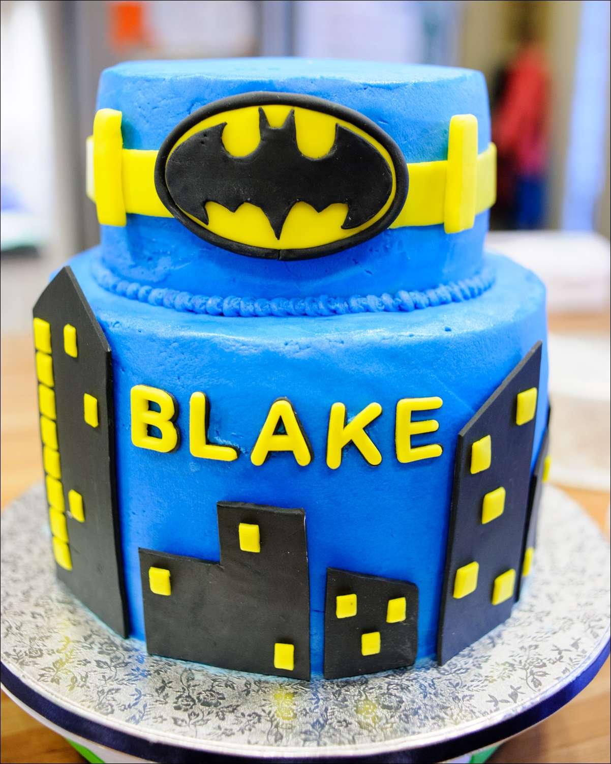 Batman Superhero Birthday Cake Gray Barn Baking