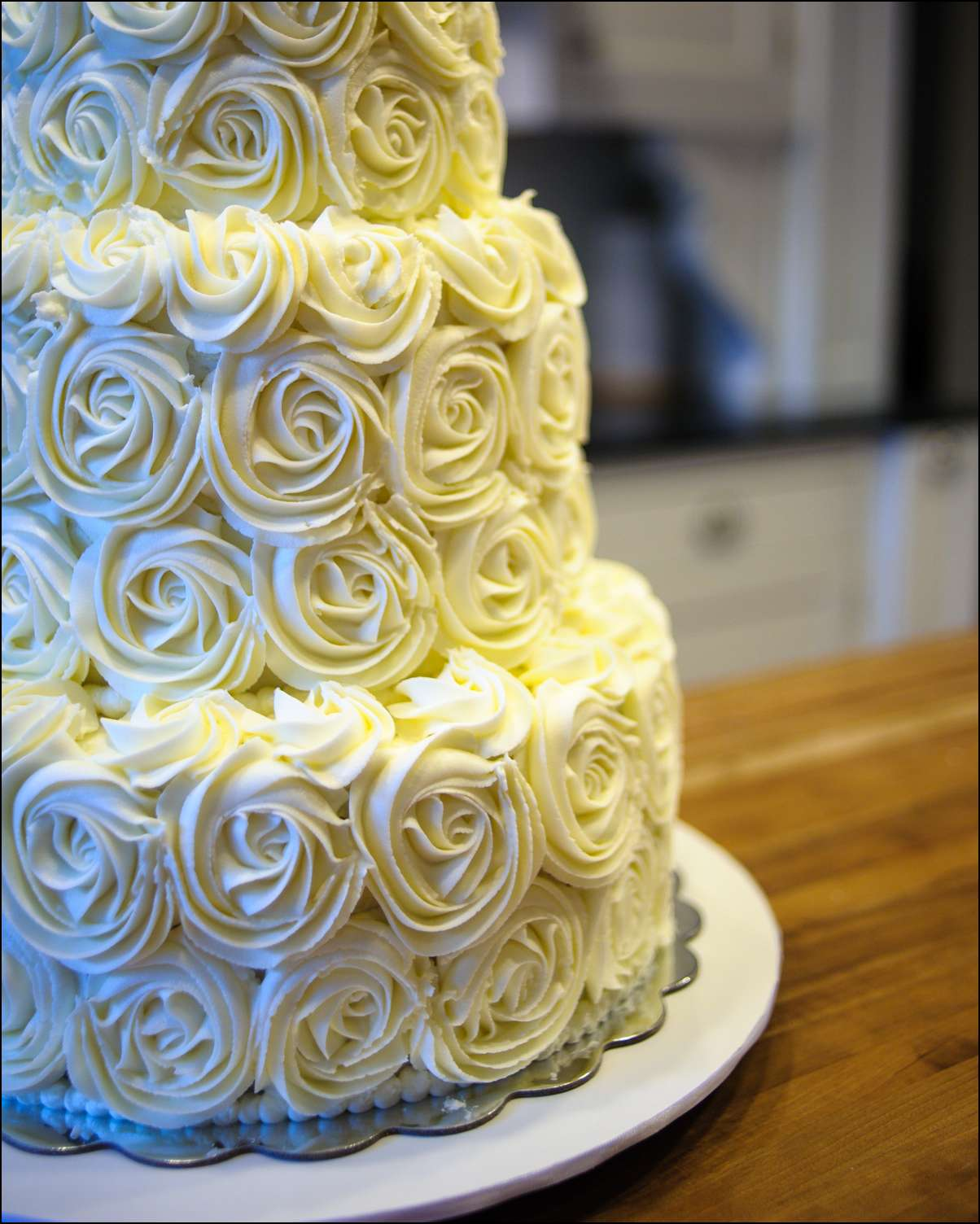 Tiered Rosette Wedding Cake | Gray Barn Baking