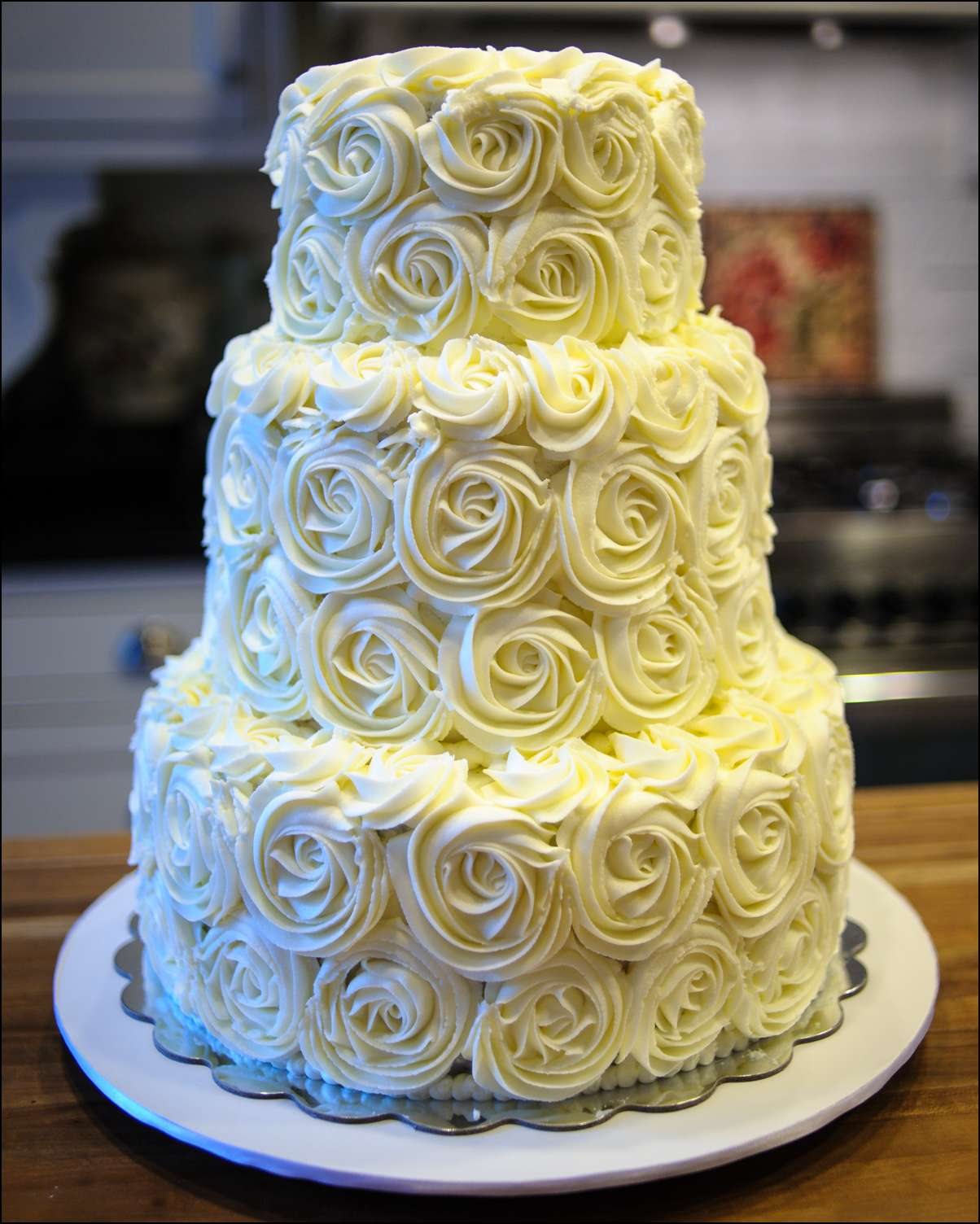 Rosette Wedding Cake Gray Barn Baking