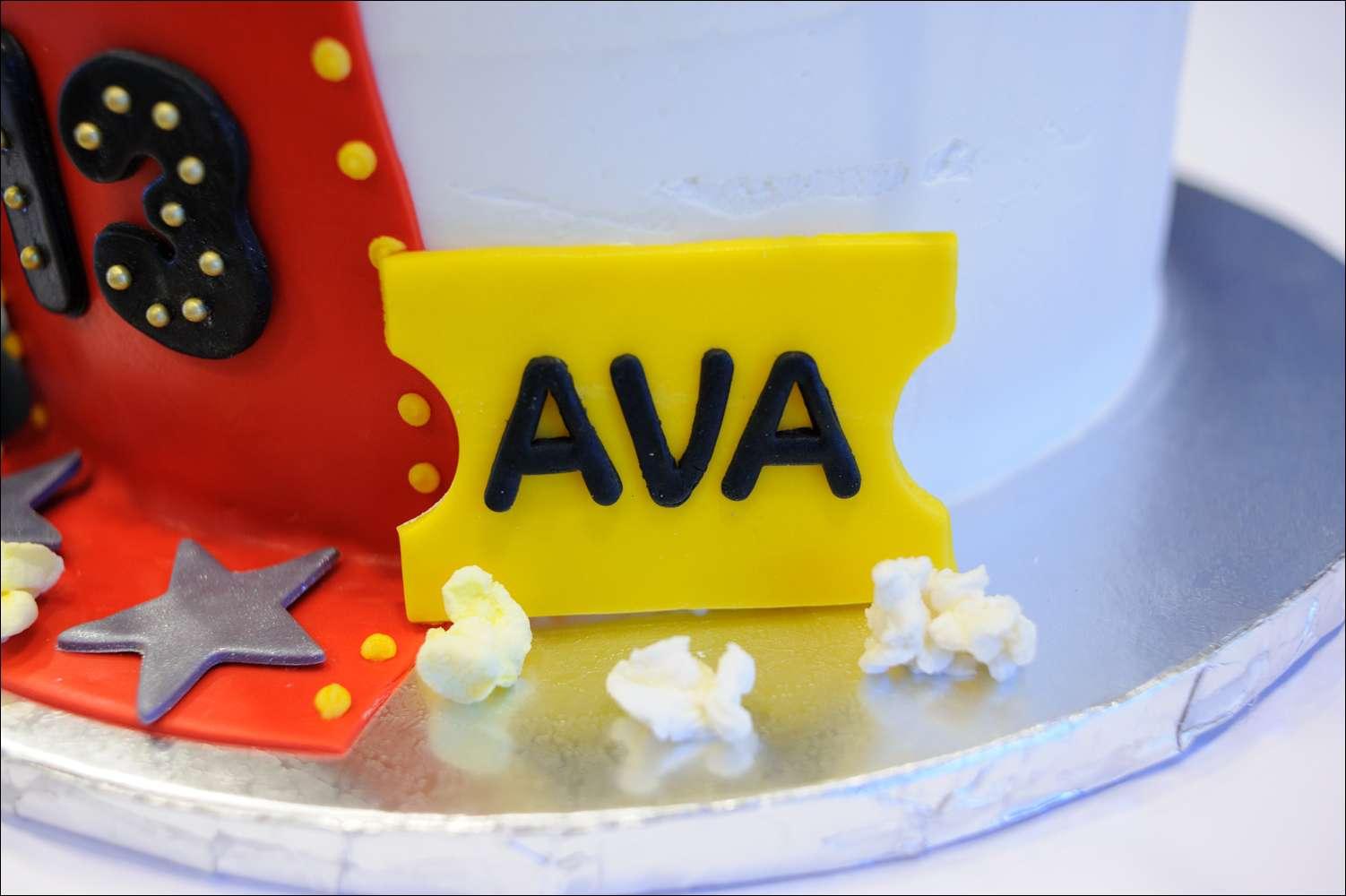 Movie Themed Birthday Cake Gray Barn Baking