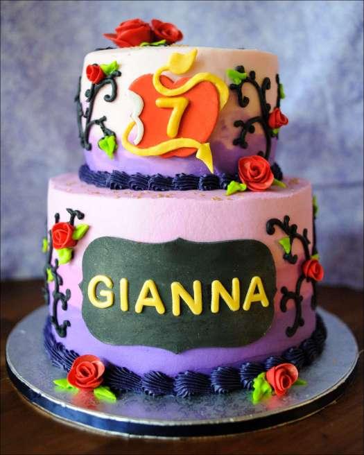 Disney Descendants Birthday Cake | Gray Barn Baking