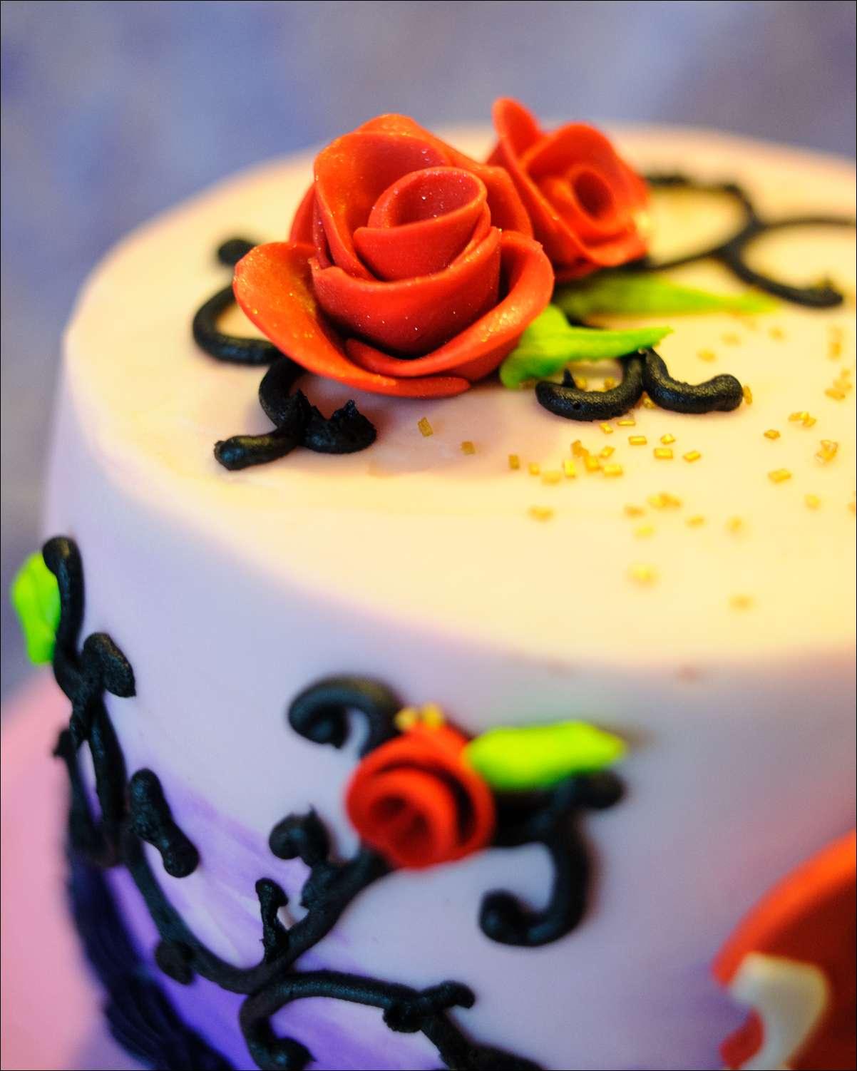 Disney Descendants Birthday Cake Gray Barn Baking