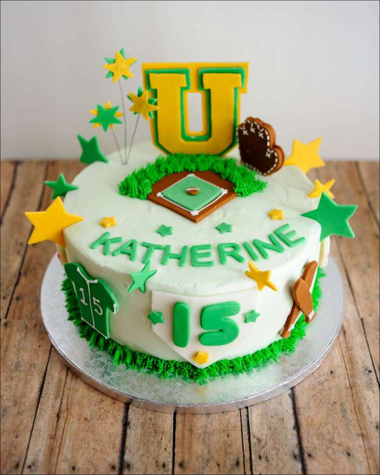Strange Softball Birthday Cake 1 Gray Barn Baking Personalised Birthday Cards Paralily Jamesorg