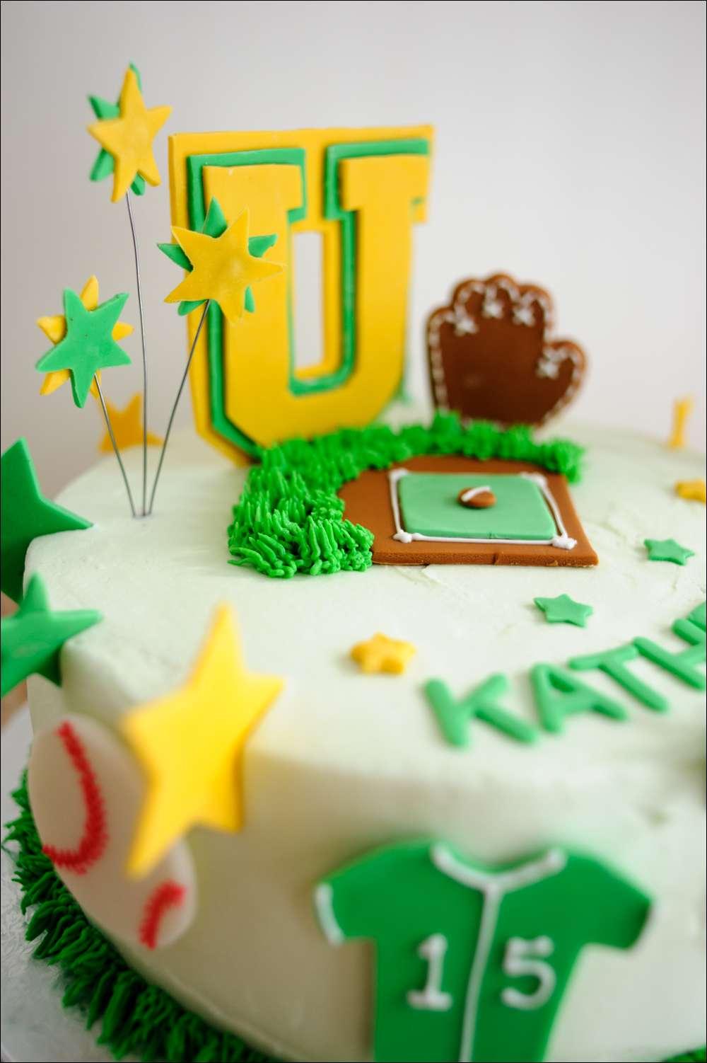 Softball Birthday Cake 5 Gray Barn Baking