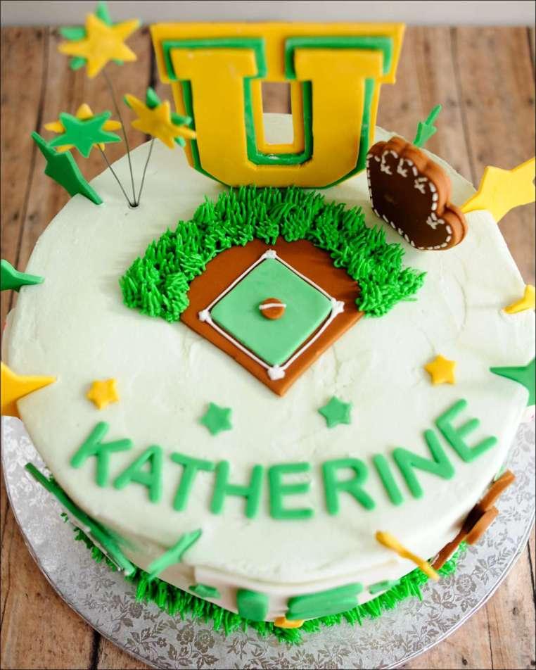 Awe Inspiring Softball Birthday Cake 7 Gray Barn Baking Personalised Birthday Cards Paralily Jamesorg