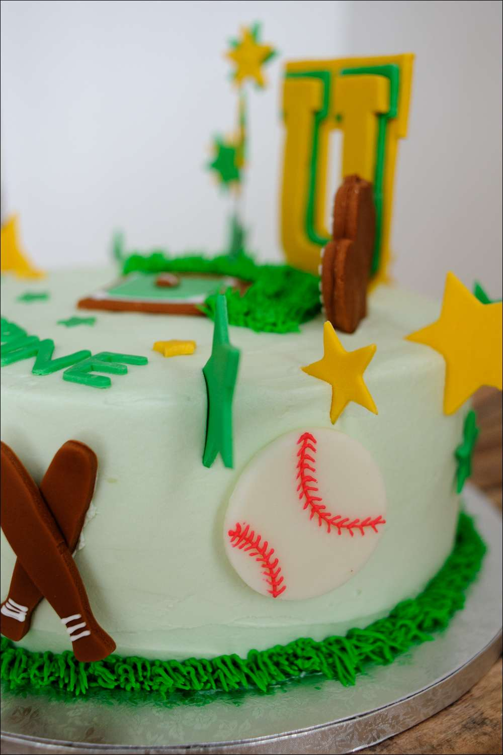 Softball Birthday Cake 8 Gray Barn Baking