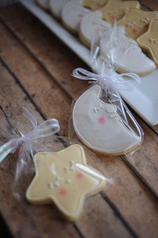 Sweet Moon And Stars Baby Shower Cookies Gray Barn Baking