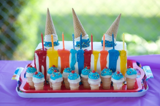 Terrific Pool Party Birthday Cake Cookies And Rainbow Ice Cream Cake Pops Funny Birthday Cards Online Inifodamsfinfo