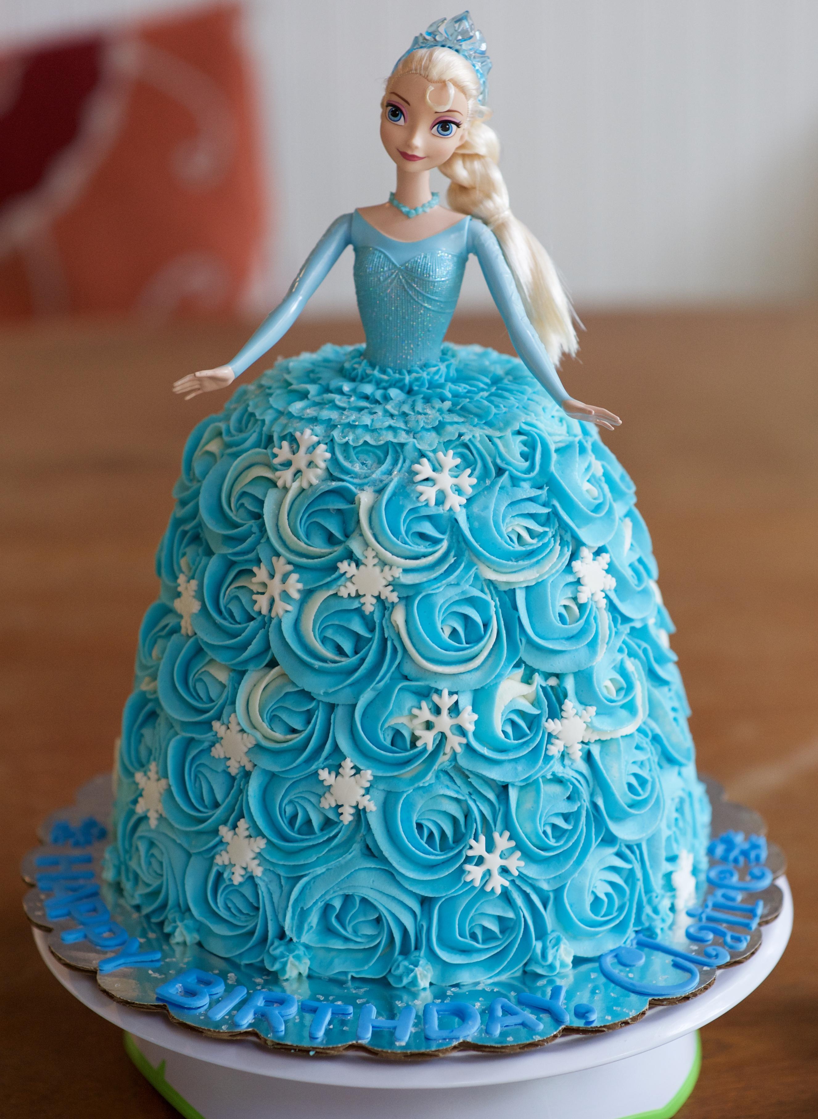 Disney S Frozen Elsa Doll Cake Gray Barn Baking