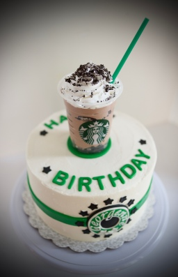 starbucks birthday cake starbucks themed cake gray barn baking 7684