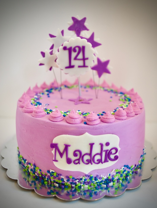 Post Holiday Purple Birthday Cake And Cookies For Maddie Gray