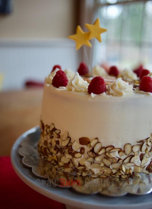 Raspberry Almond Birthday Cake Gray Barn Baking