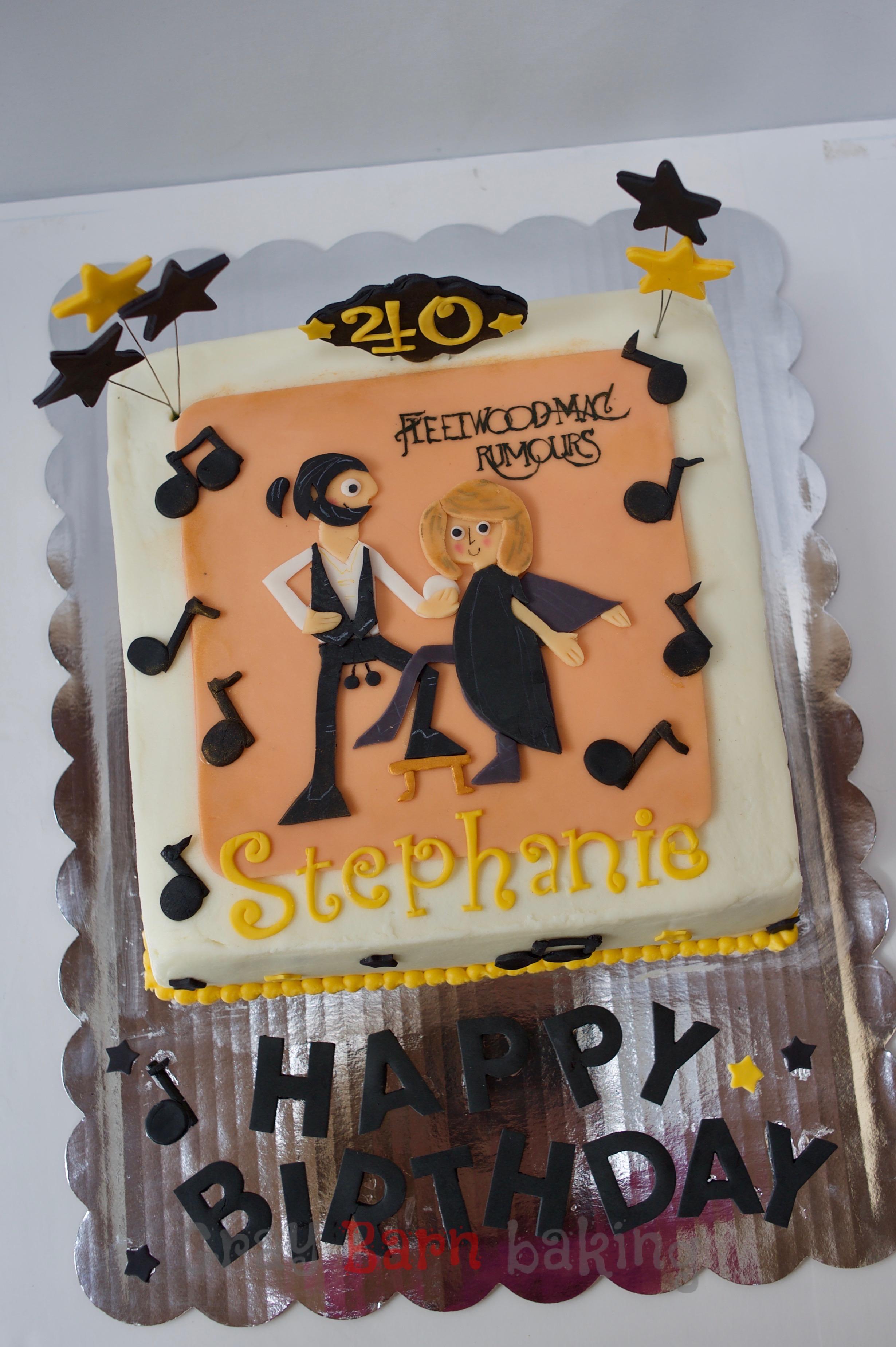 Retro Fleetwood Mac And Nkotb Cakes Gray Barn Baking