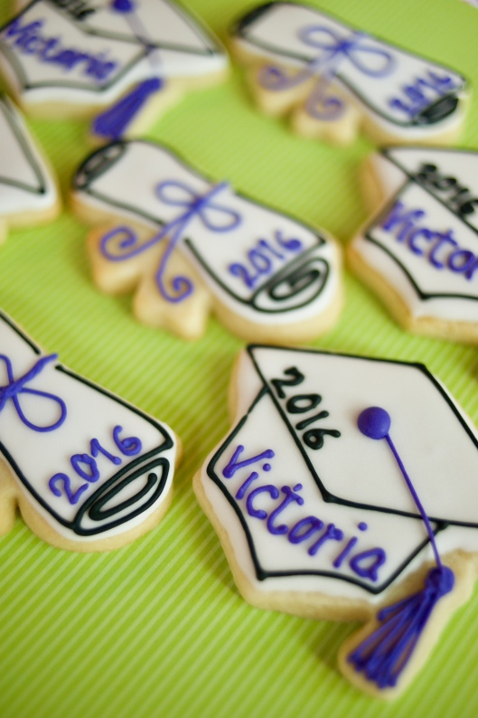 graduation cookies purple_3