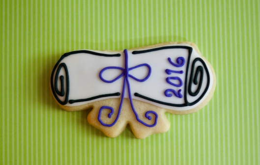 graduation cookies_purple_1