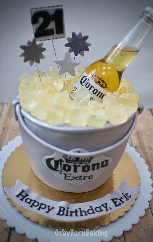 corona ice bucket cake0000