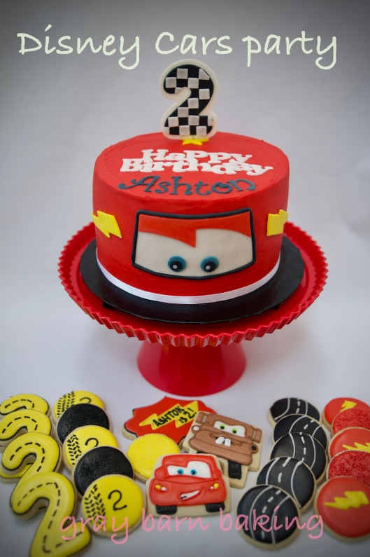 Disney Cars 2nd Birthday Gray Barn Baking