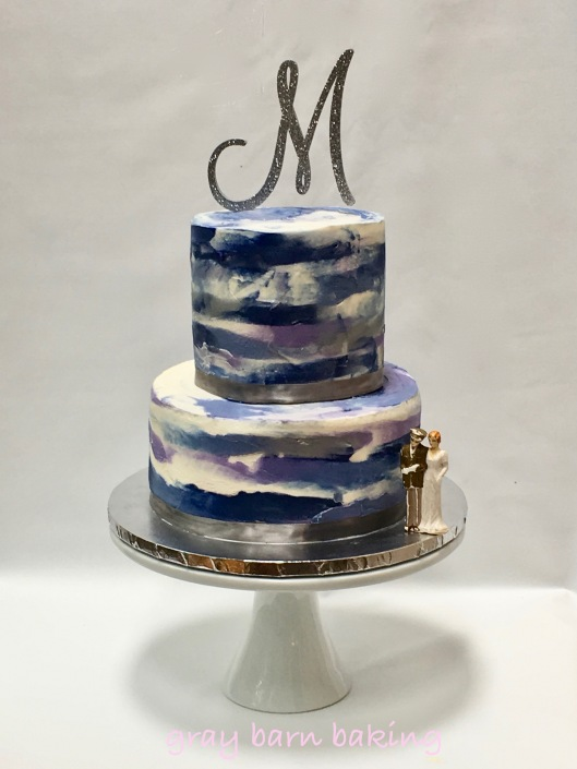 blue watercolor wedding cake0001