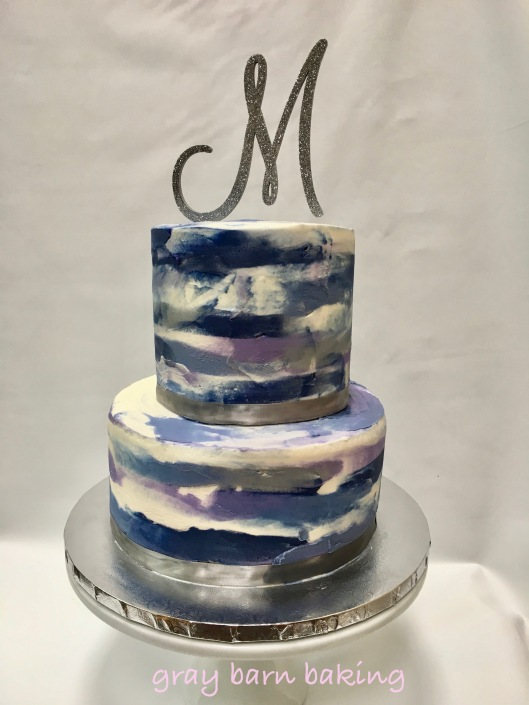 blue watercolor wedding cake0002