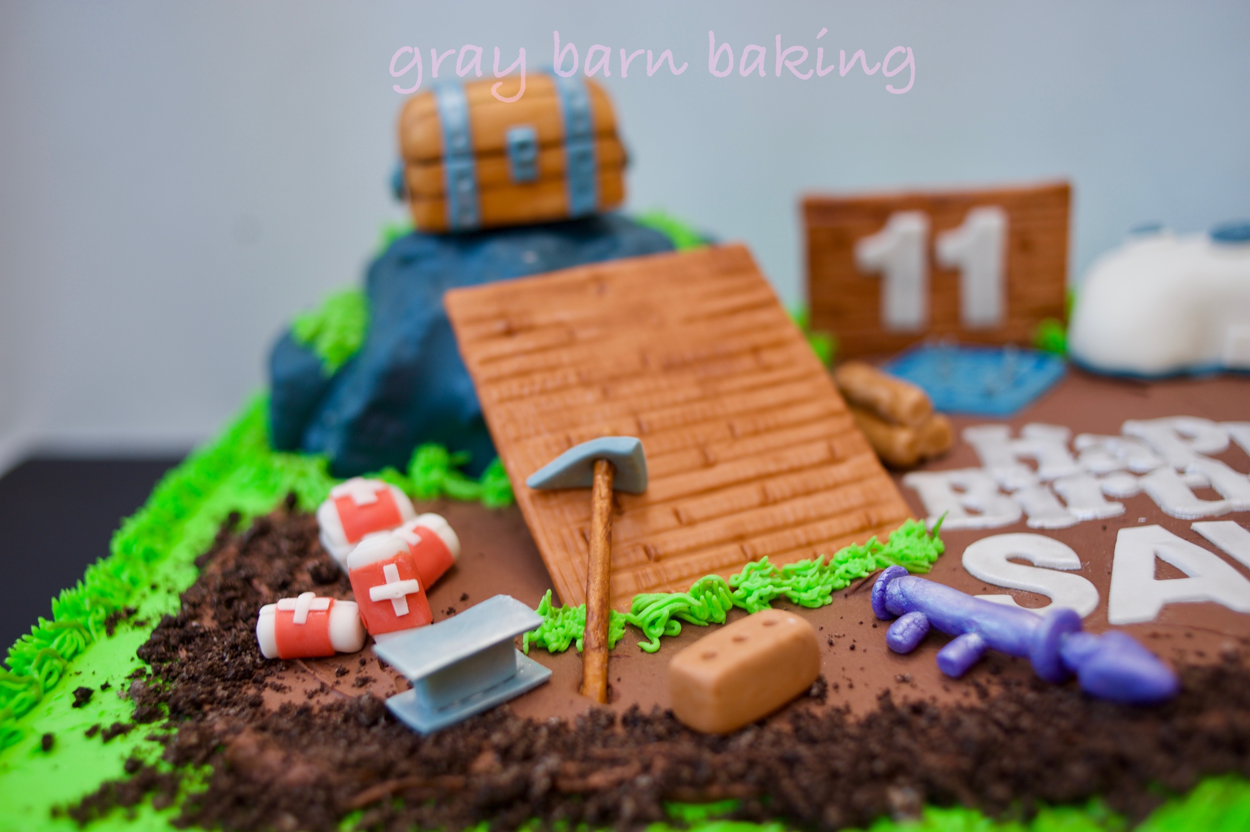 Fortnite Gamer Cake Gray Barn Baking