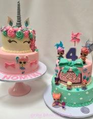 Unicorn _LOL surprise cakes0001
