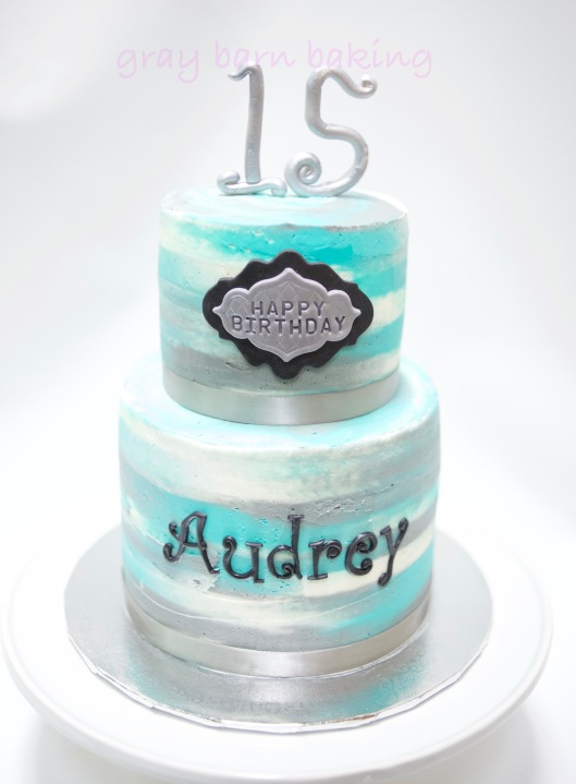 2-tiered blue-silver watercolor birthday cake0004